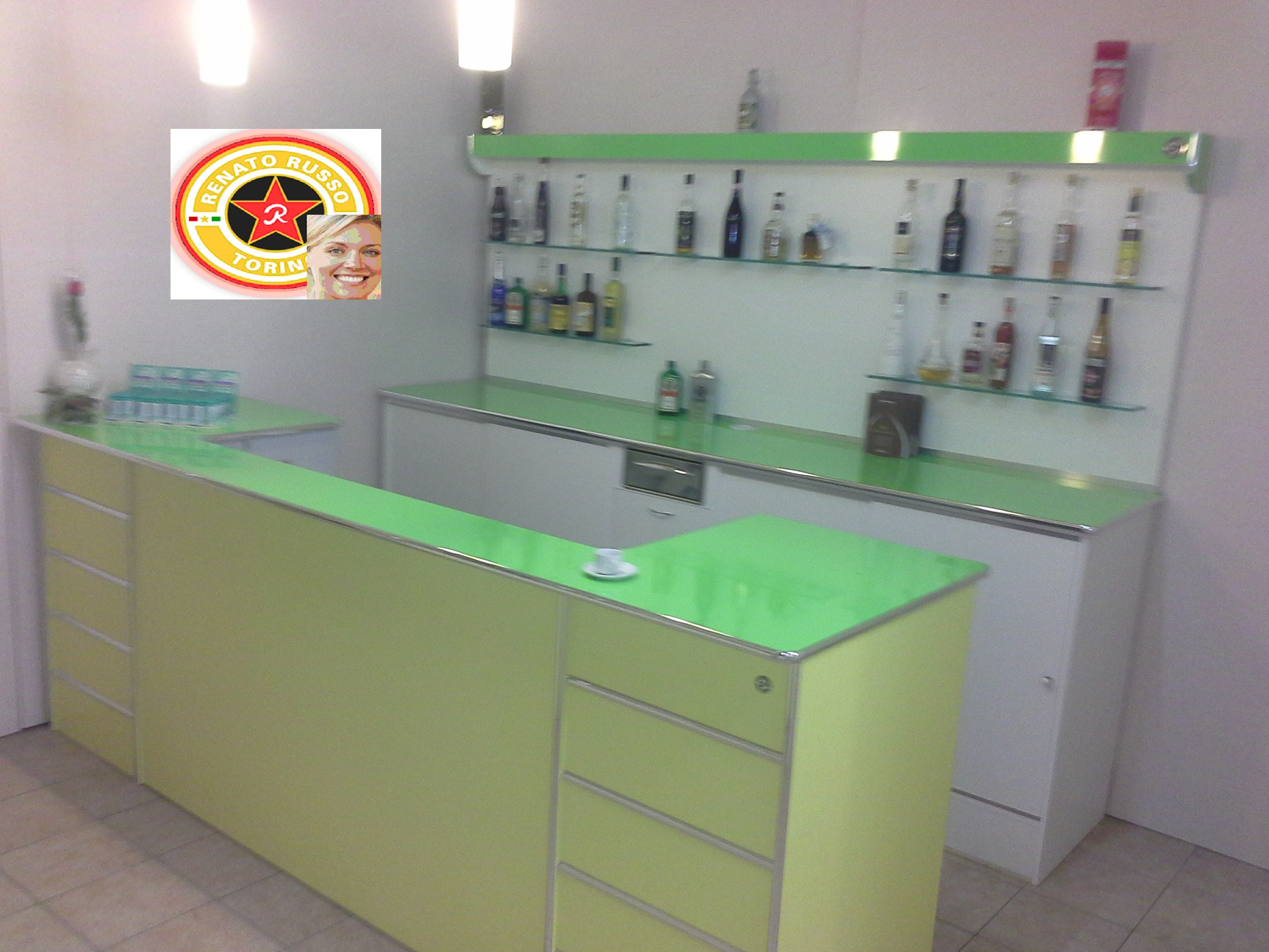 Produttori banconi bar dal 1980 renato russo torino for Arredamento per bar prezzi